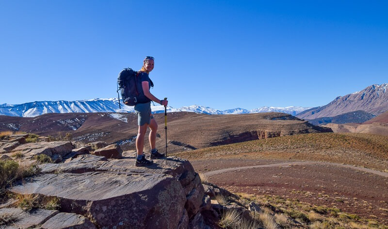 Standing on a rock in the Atlas Mountains