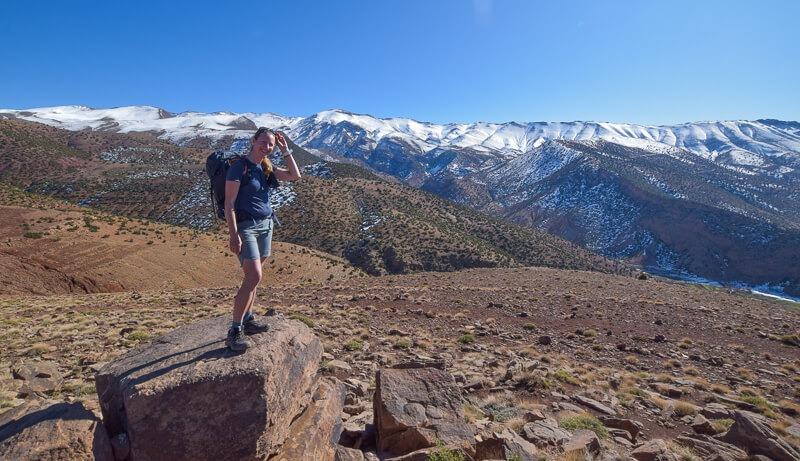 Becky the Traveller in Atlas Mountains Morocco