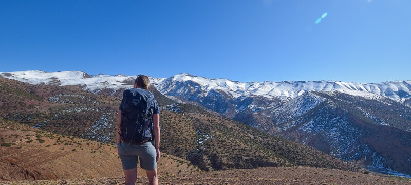 Soaking in the views of the Atlas Mountains