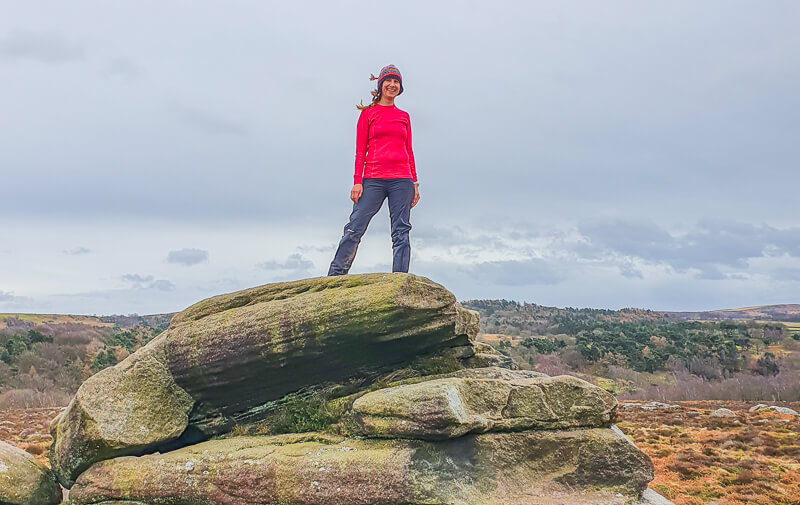 Wearing Helly Hansen base layer whilst hiking