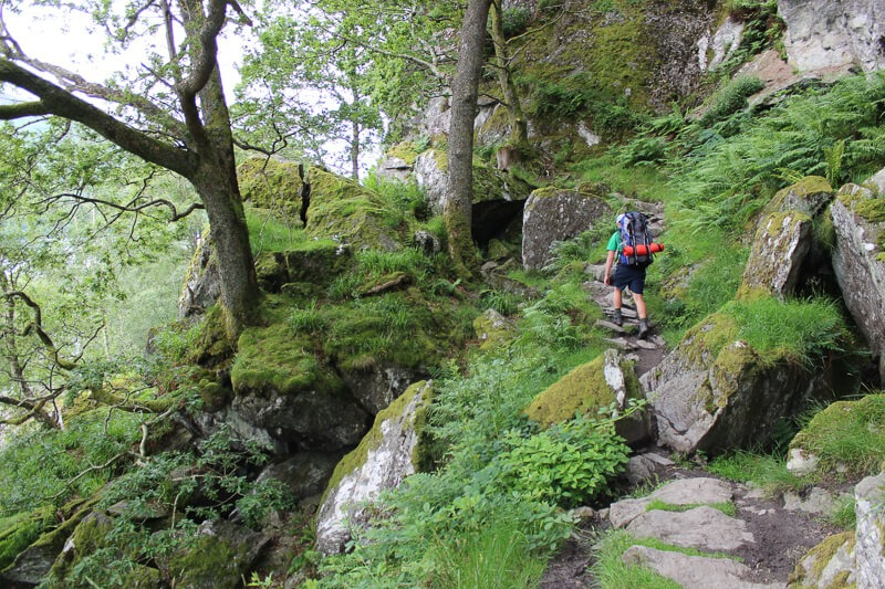 Eddie hiking West Highland Way past Loch Lomond