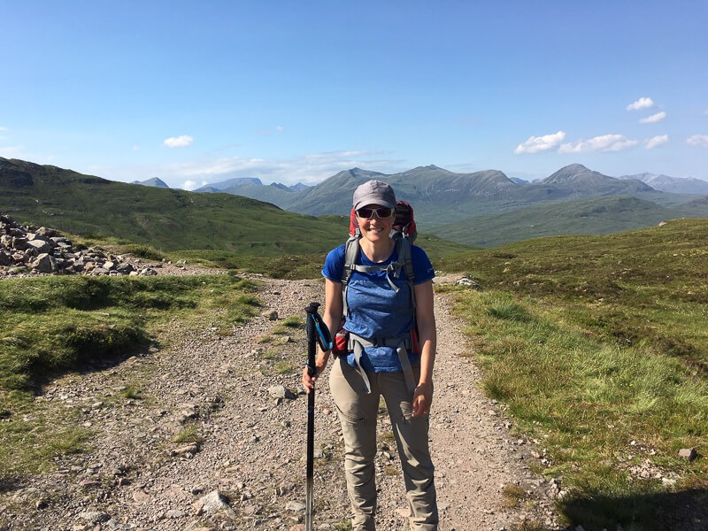 Fransiska on the West Highland Way
