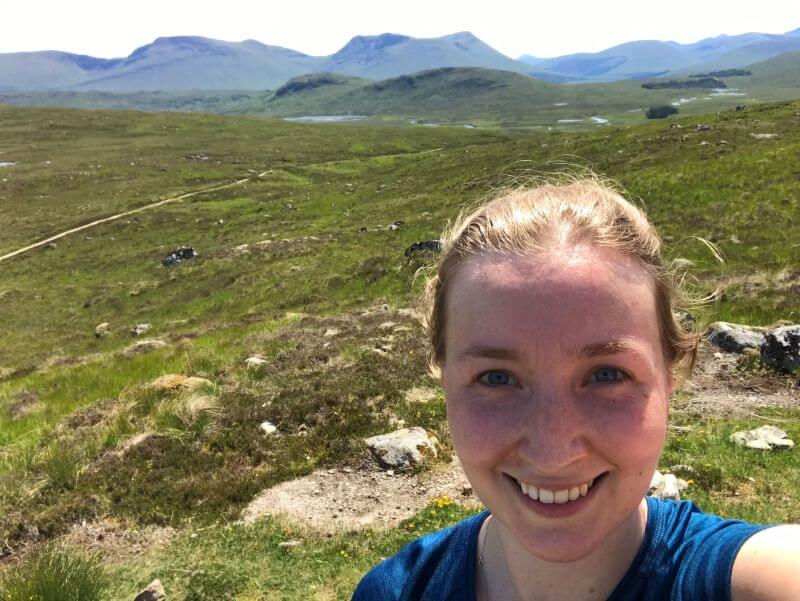 Hannah Charters on West Highland Way