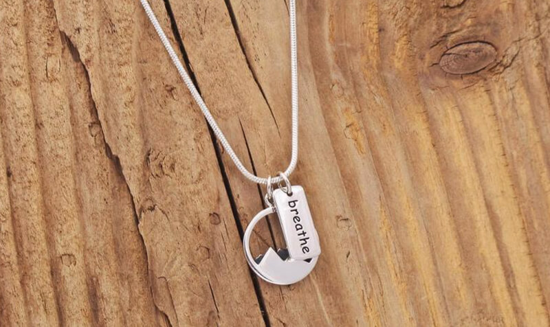 Hiking mountain necklace - hiking gifts
