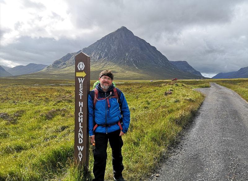 Phil Hall on West Highland Way hike