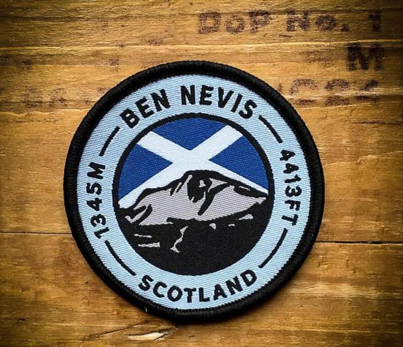 Unique hiking gift Ben Nevis Patch