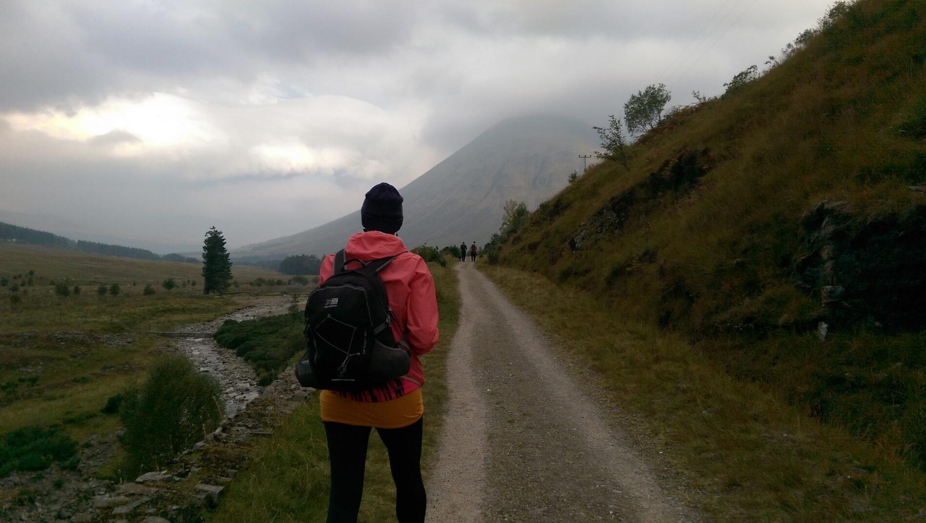 Marion hiking West Highland Way