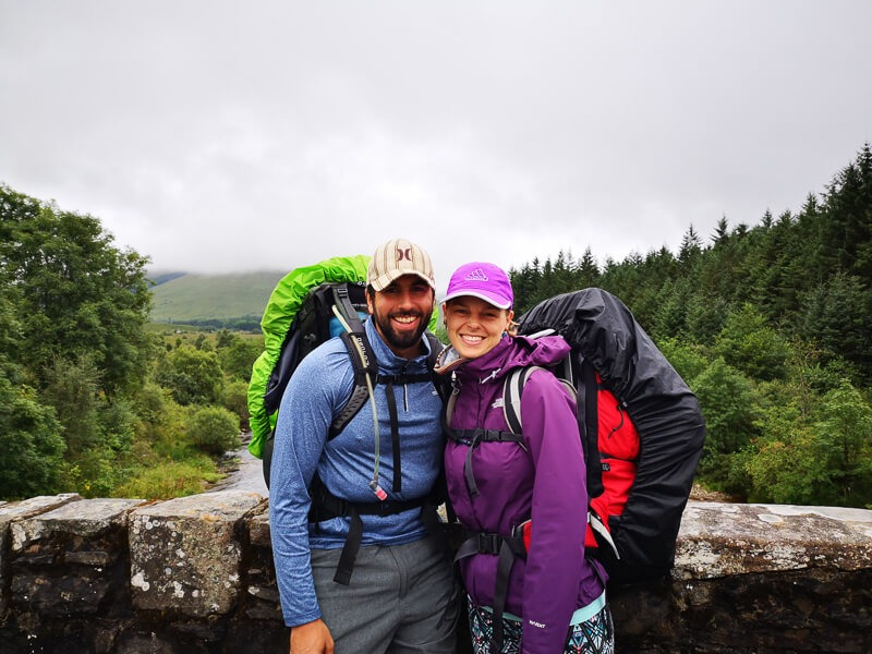 Rufino and Lucy on the West Highland Way trial
