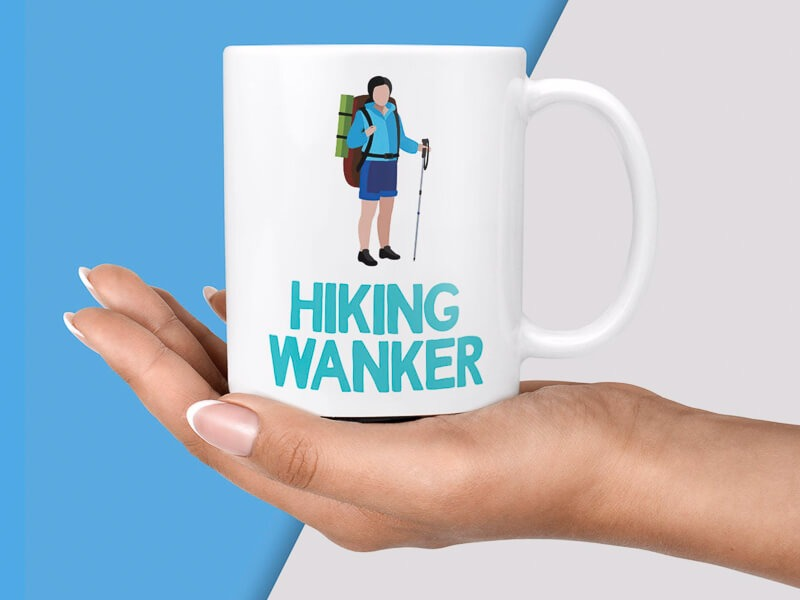 Hiking mug gift for her or him