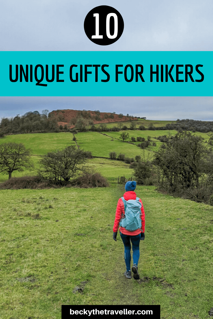 Unique hiking gifts - person hiking