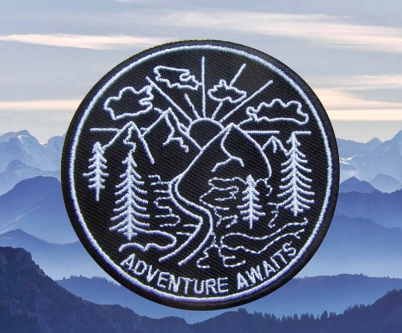 Unique hiking gifts - adventure patch