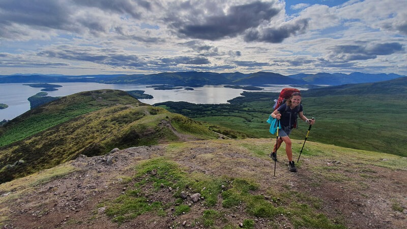 Hiking Conic Hill on the West Highland Way