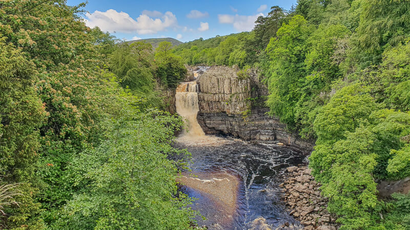 High Force waterfall in North Pennines