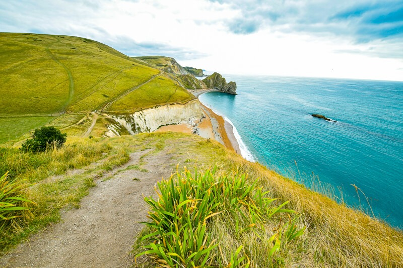 Walking towards Durdle Door, Jurassic Coast