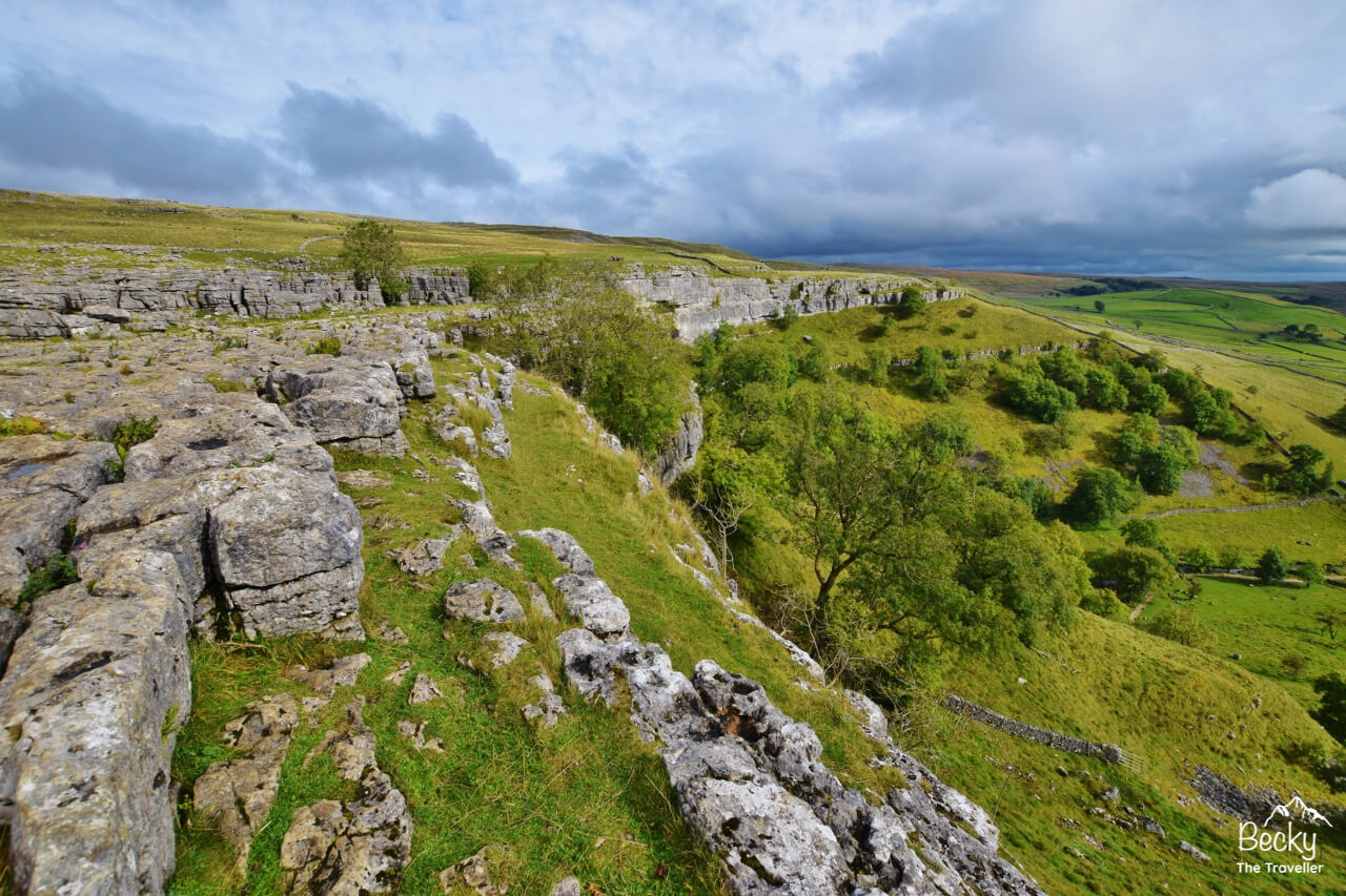 Views from the top of Malham Cove