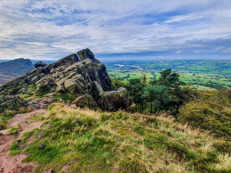 The Roaches walk in the Peak District