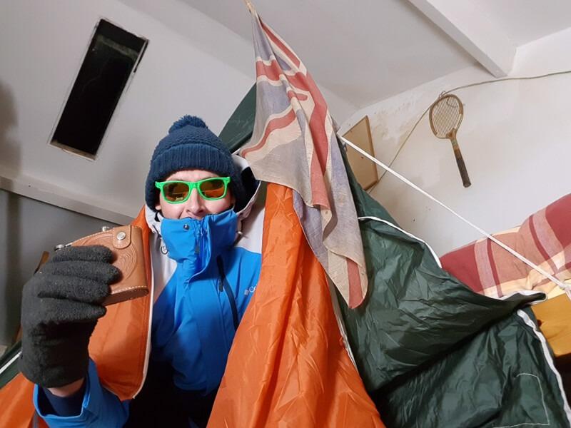 David on virtual Everest hike