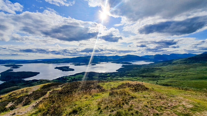 Views from Conic Hill over Loch Lomond