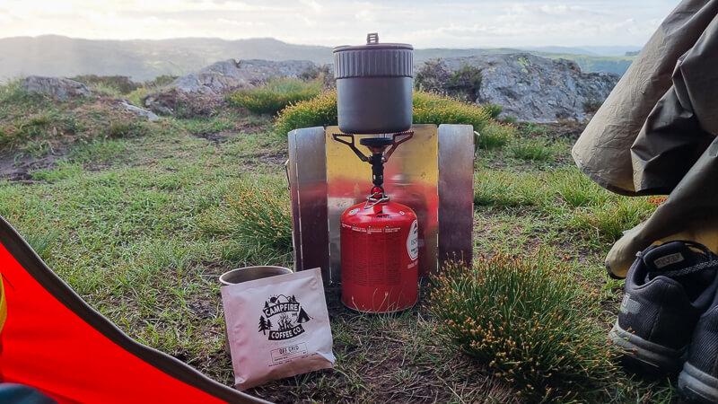 Camping stove and pot