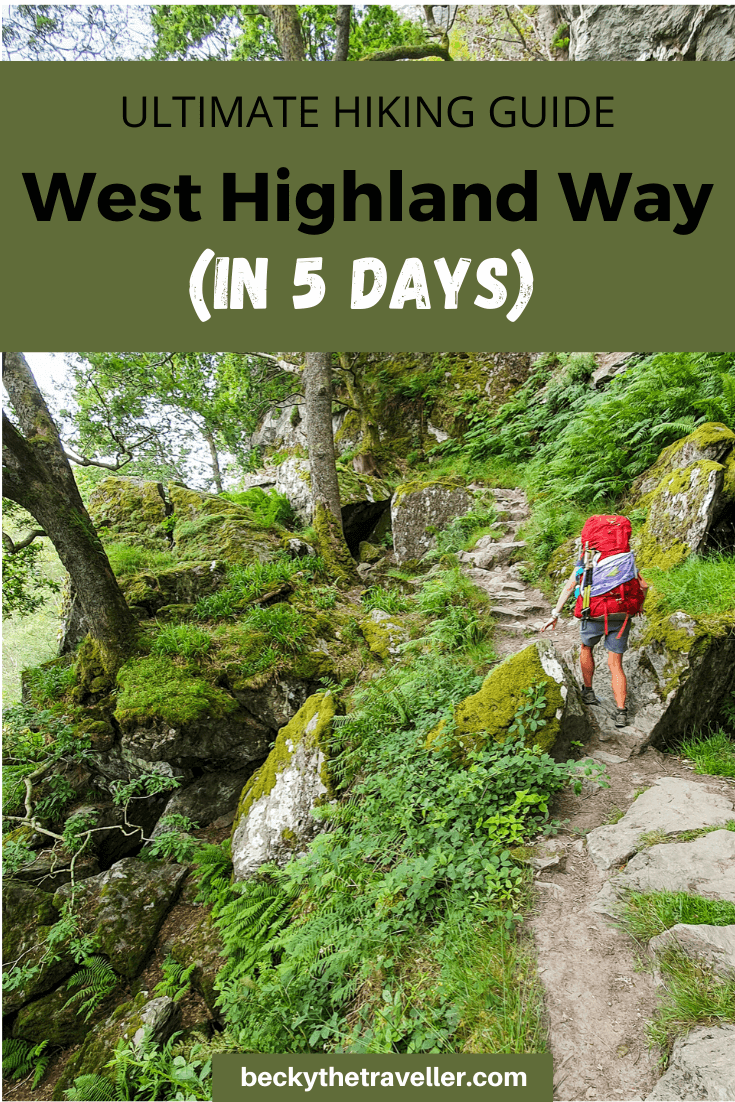 Person hiking West Highland Way