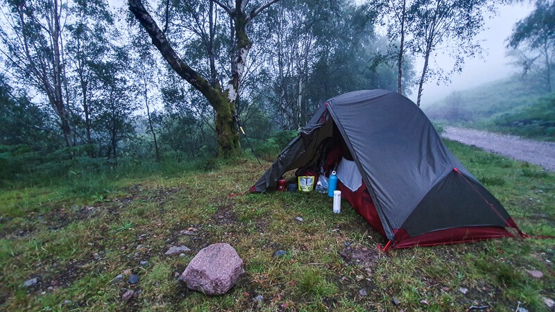 Wild camping on West Highland Way