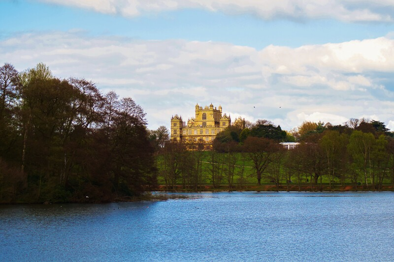Lake and Wollaton Hall behind