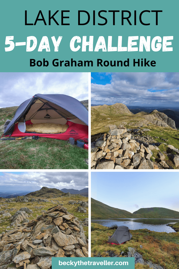 Bob Graham Round walk photos of Lake District