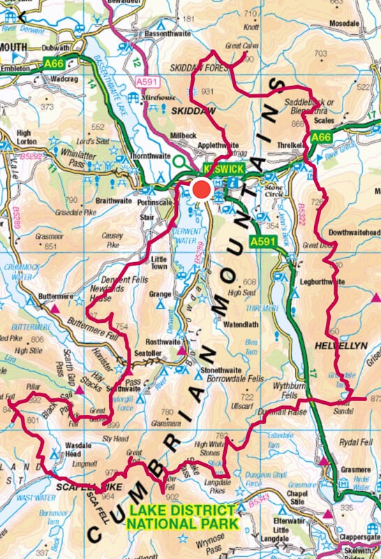 Bob Graham Round route map