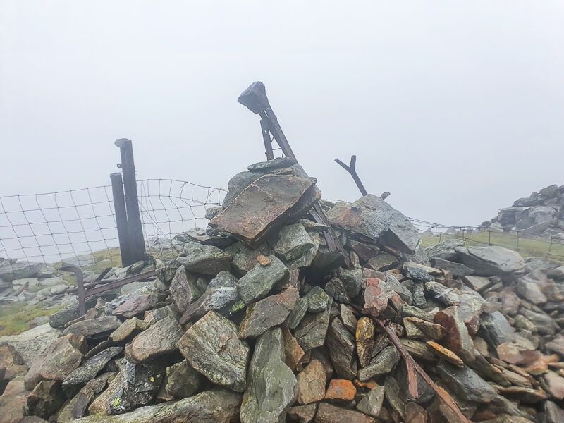 Rocky cairn summit on Great Calva