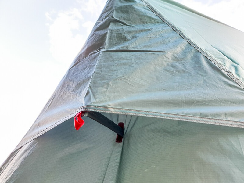 Tent vent at the back