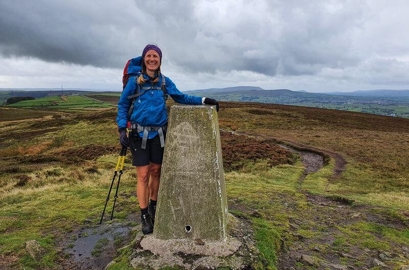 Pinhaw Beacon on Pennine Way trail