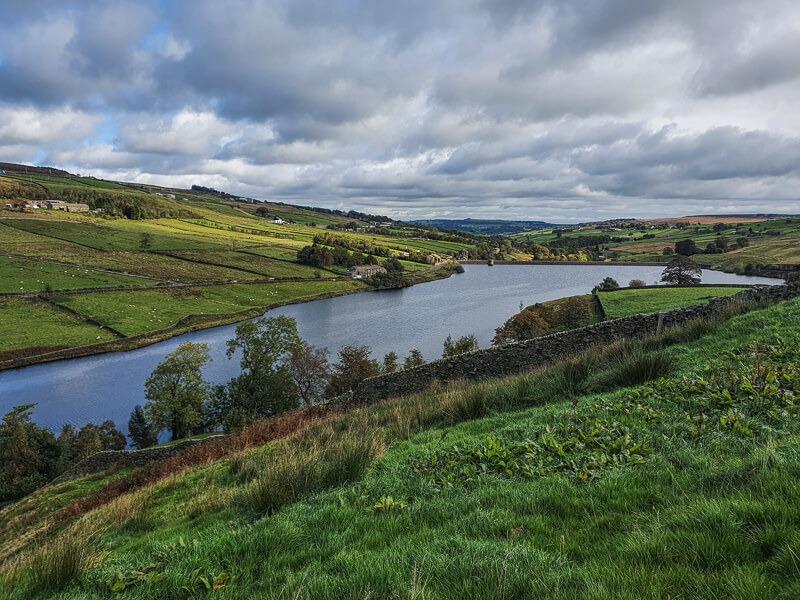 Views down to reservoir