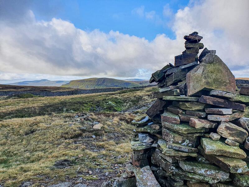 Stone cairn on Fountains Fell