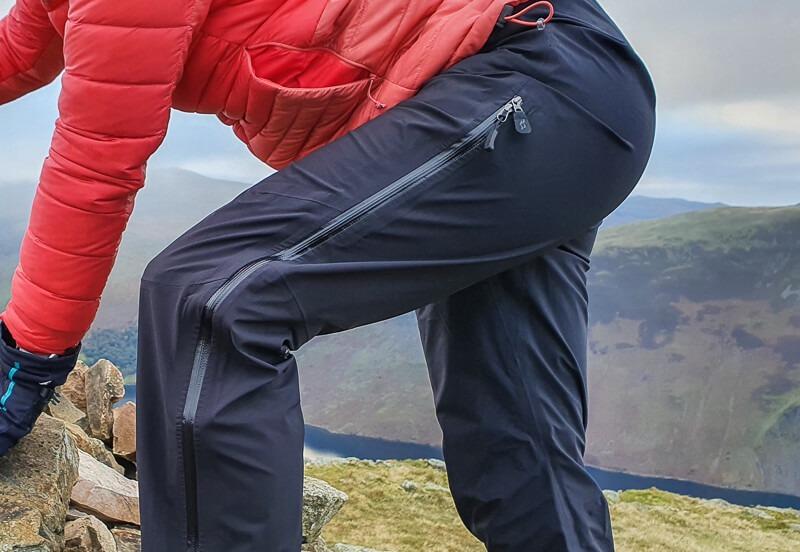 Full length zip on Rab Firewall Pants