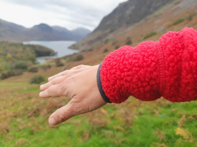 Sleeve of Rab Hoody and view