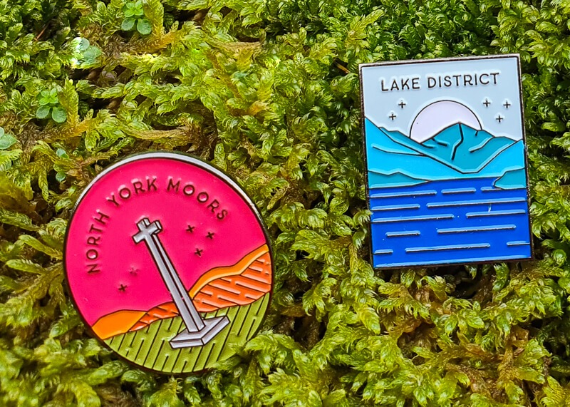 North York Moors + Lake District Adventure Pins