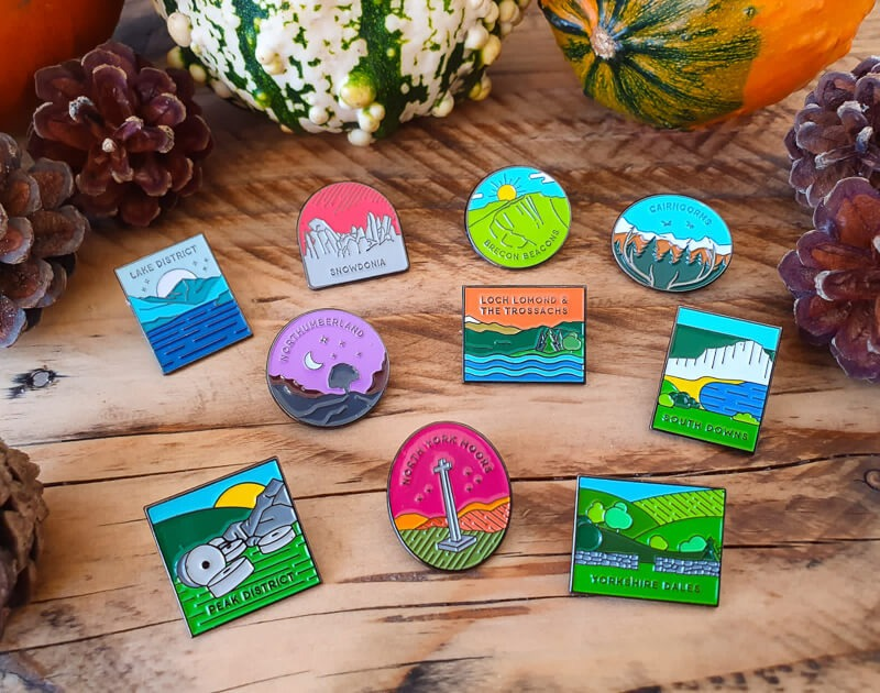 UK National Park Pins