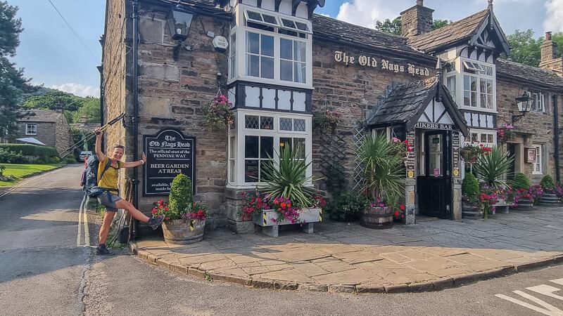 Nags Head pub in Edale